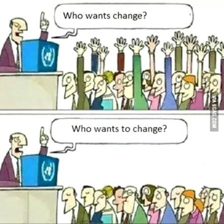 Image result for those who want change  those who want to change  CARTOON